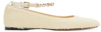 J.W.Anderson Yellow Fur Ballerina Flats