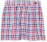 Oscar de la Renta Plaid Cotton Skirt