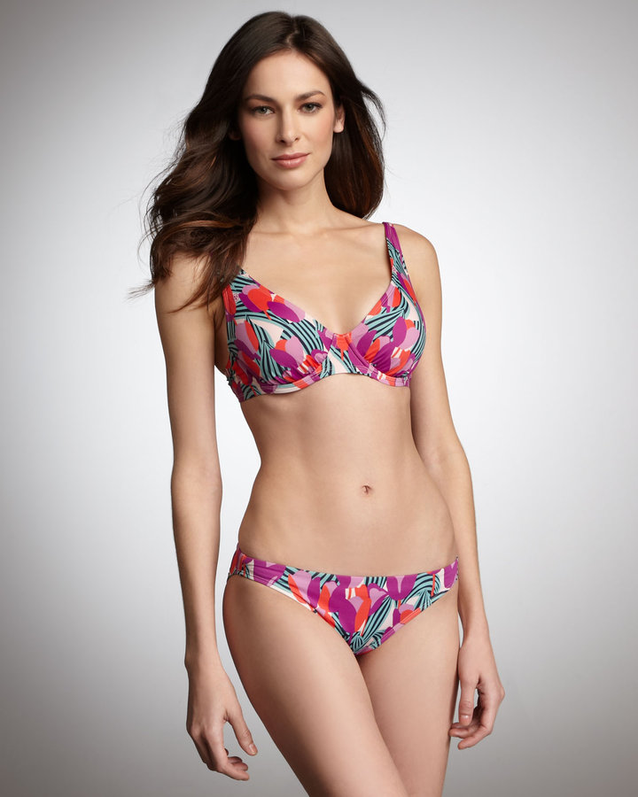 Tory Burch Printed Underwire Top