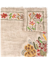 Faliero Sarti distressed floral scarf