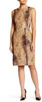 Oscar de la Renta Sleeveless Silk Sheath Dress