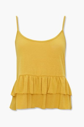 Forever 21 Ribbed Flounce Cami