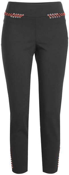 Alexander McQueen Wool Pants with Lace-Up Detail