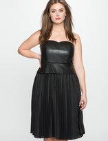ELOQUII Plus Size Faux Leather Bustier Dress