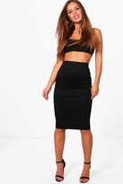 boohoo Petite April Basic Midi Bodycon Skirt