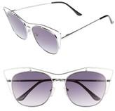 BP Women's 53Mm Cat Eye Sunglasses - Silver