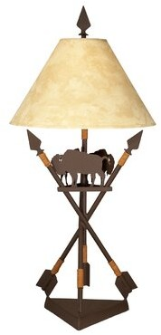 "Millwood Pines Montanez 32"" Table Lamp Base Color/Finish: Rust"