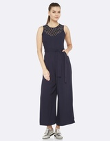 Oxford Spotted Neckline Jumpsuit