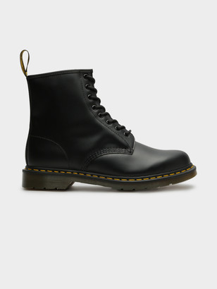 Dr. Martens Unisex 1460 Lace-Up Boots in Smooth Black Leather