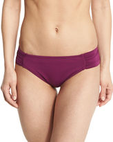 LaBlanca La Blanca Island Goddess Shirred-Side Hipster Swim Bottom, Cranberry
