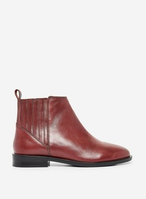 Dorothy Perkins Womens Wide Fit Burgundy 'Oslo' Chelsea Boots