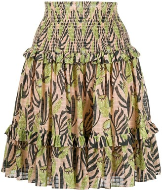 Temperley London Reef print skirt