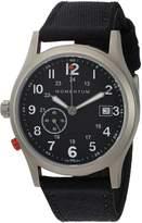 Momentum Men's Quartz Titanium and Canvas Dress Watch, Color: (Model: 1M-SP60B6B)