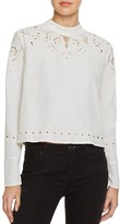 Astr Winifred Lace Trim Top