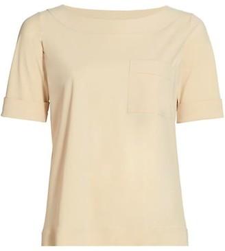 Chiara Boni Trifonia Short-Sleeve Patch-Pocket Top