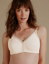 M&S Collection 2 Pack Maternity Spacer Non-Wired T-Shirt Nursing Bras B-G