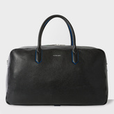 Paul Smith Men's Black Leather 'Cycle Stripe' Detail Holdall