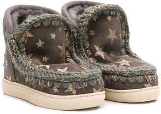 Mou Kids Star Print Boots