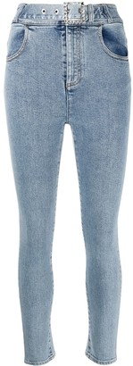 Alessandra Rich High Rise Skinny Jeans