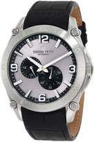 Pierre Petit Men's Serie Le Mans black leather band watch.