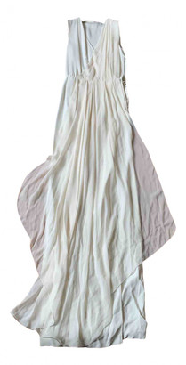 Vionnet White Silk Dresses