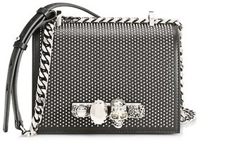 Alexander McQueen The Small Studded Jewelled Leather Satchel