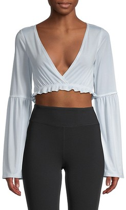FREE PEOPLE MOVEMENT V-Neck Cropped Top