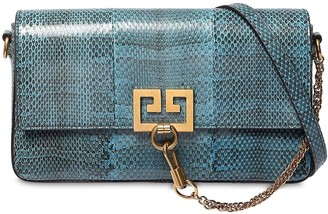 Givenchy Charm Snakeskin Shoulder Bag