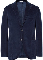 Boglioli Blue K-Jacket Slim-Fit Stretch-Cotton Corduroy Blazer