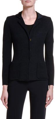 Giorgio Armani Textured Stretch-Wool Blazer Jacket