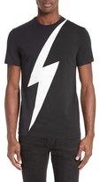 Neil Barrett Lightning Bolt Colorblock T-Shirt