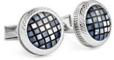Ike Behar Men's Mosaic Mother Of Pearl Cufflinks