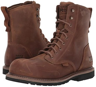 Timberland Millworks 8 Composite Safety Toe Waterproof (Brown Gaucho) Men's Work Boots