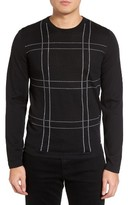 BOSS Men's Ontonio Slim Fit Check Sweater