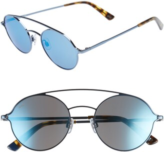 Web 56mm Round Aviator Sunglasses