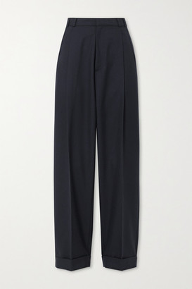 RE/DONE 80s Pleated Twill Straight-leg Pants - Navy