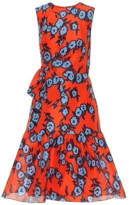 Carolina Herrera Floral silk-crApe dress