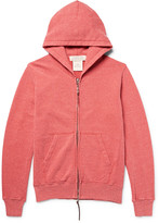 Remi Relief Loopback Nep Cotton and Silk-Blend Jersey Zip-Up Hoodie