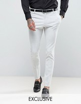 Religion Super Skinny Suit Trousers In Pale Grey