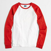 J.Crew Factory Long-sleeve slub baseball T-shirt