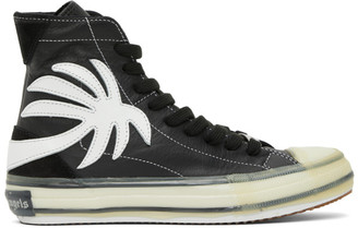Palm Angels Black Palm Vulcanized High Top Sneakers