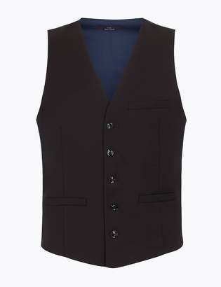 Limited EditionMarks and Spencer Skinny Textured Dinner Waistcoat with Stretch