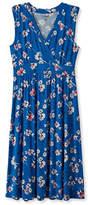 L.L. Bean Womens Summer Knit Dress, Sleeveless Multifloral