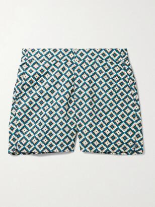 Frescobol Carioca Pangra Short-Length Printed Swim Shorts
