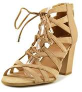 Franco Sarto Meena Open Toe Leather Platform Sandal.