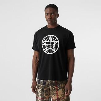 Burberry Gobe Graphic Cotton Oversized T-shirt