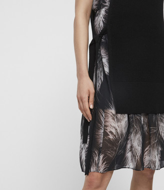 AllSaints Dillon Feather Dress