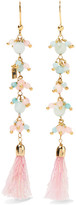 Rosantica Baby Gold-tone, Quartz And Tinsel Earrings - Pink