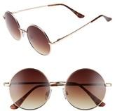 BP Women's 50Mm Metal Round Sunglasses - Gold