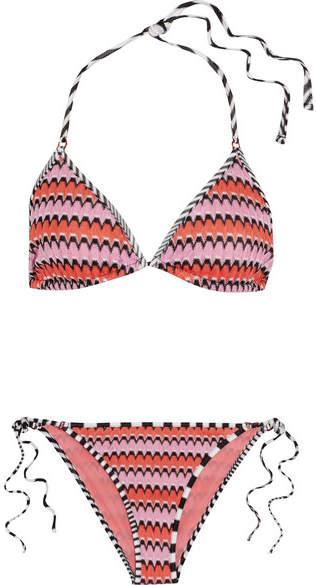 Missoni Mare Crochet-knit Triangle Bikini - Pink